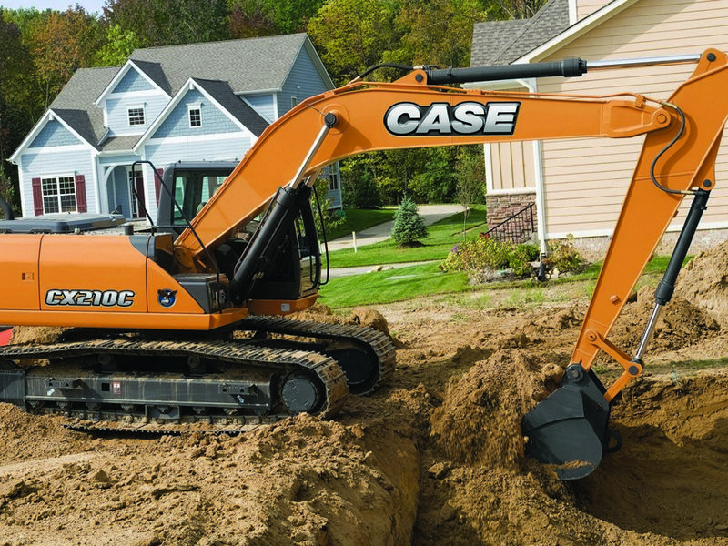 Excavator pe senile Case CX 210 dealer