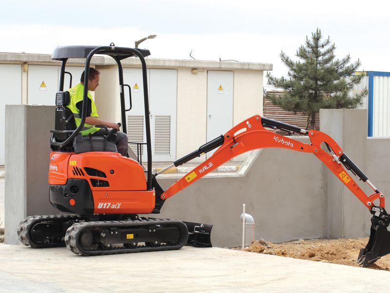 excavator mini kubota u 17 second hand