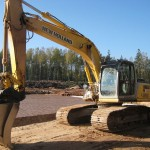 Excavator pe senile New Holland E 195 second hand